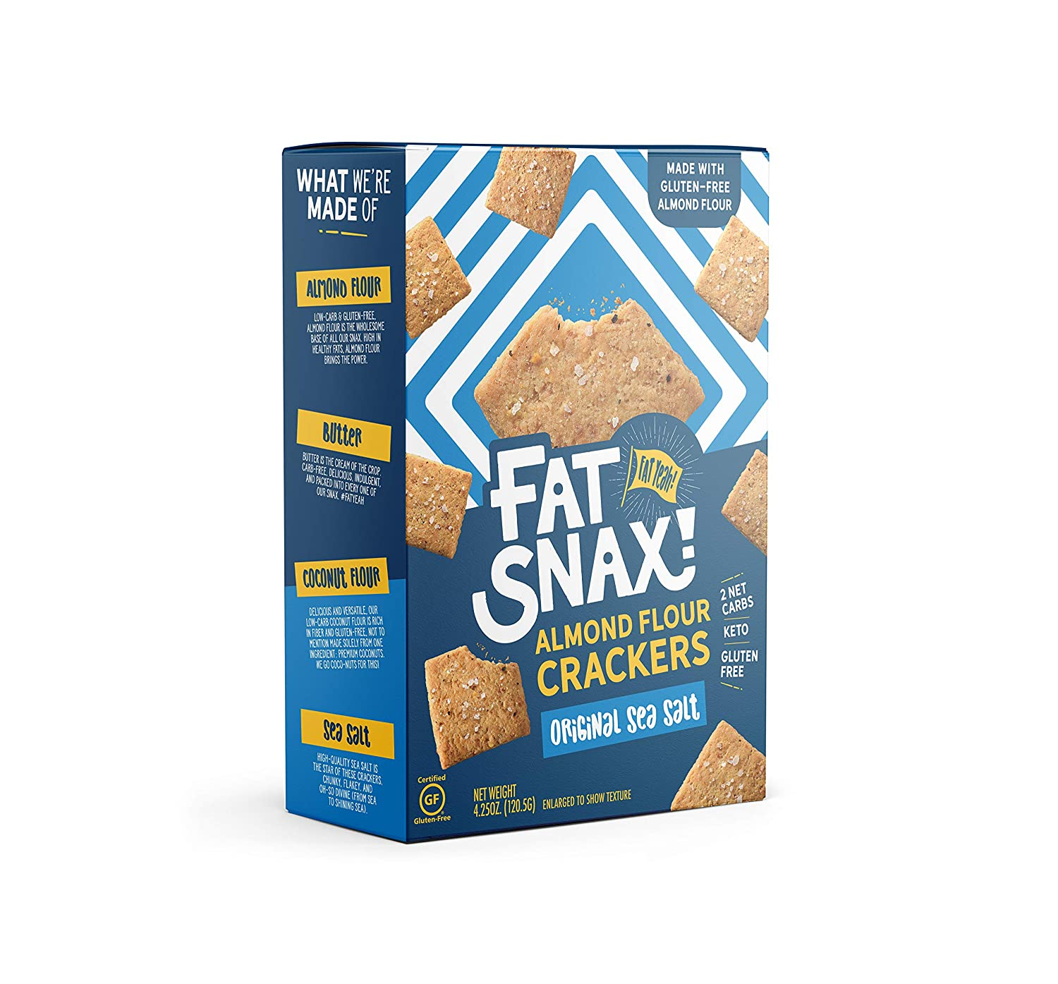 Fat Snax Almond Flour Max 56% OFF Crackers - Low-Carb and Keto C Gluten-Free Outstanding