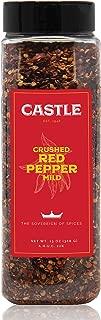 Castle Foods | Crushed Red Pepper Mild Container, 13 oz Premium Restaurant Quality