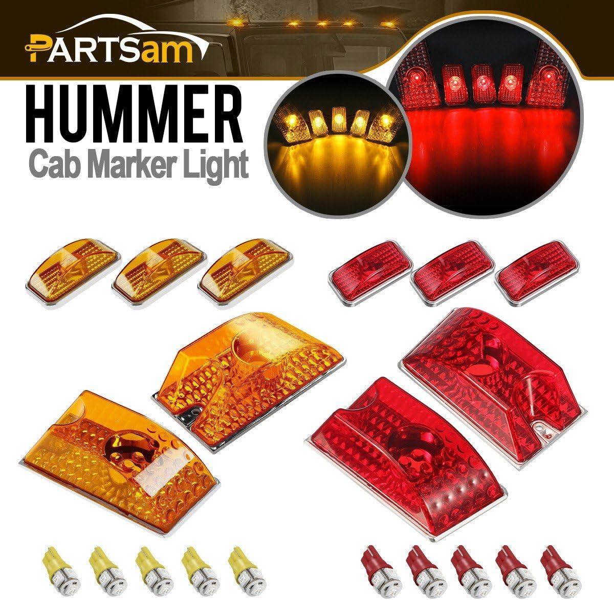 Partsam 格安SALEスタート 10pcs Red Amber Lens 264160 Roof Running 販売 Crys Cab Marker