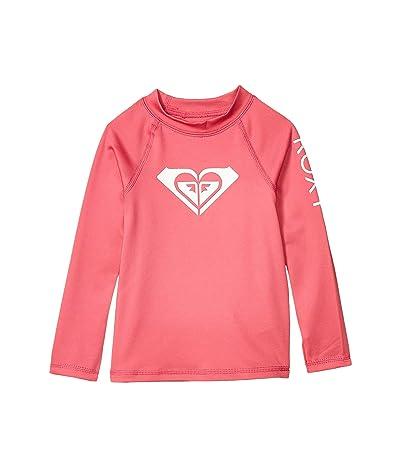 Roxy Kids Whole Hearted Long Sleeve Rashguard (Toddler/Little Kids/Big Kids) (Pink Flambe) Girl