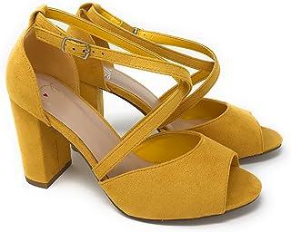 b740a9efc86b Delicious Women s Henley Faux Suede Closed Toe T-Strap Platform High Heel