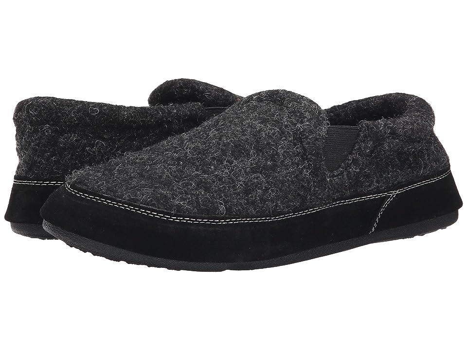 c352b4eb8e40 Acorn Fave Gore (Black Tweed) Men s Slippers