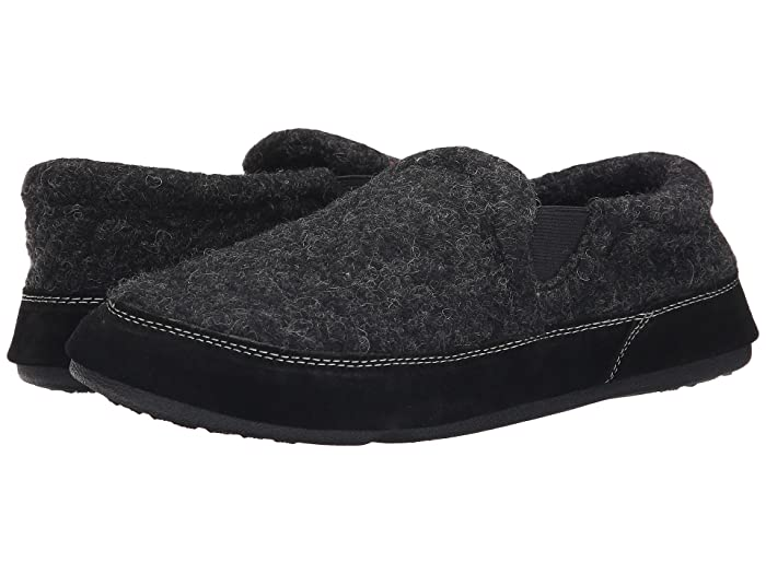 Acorn  Fave Gore (Black Tweed) Mens Slippers