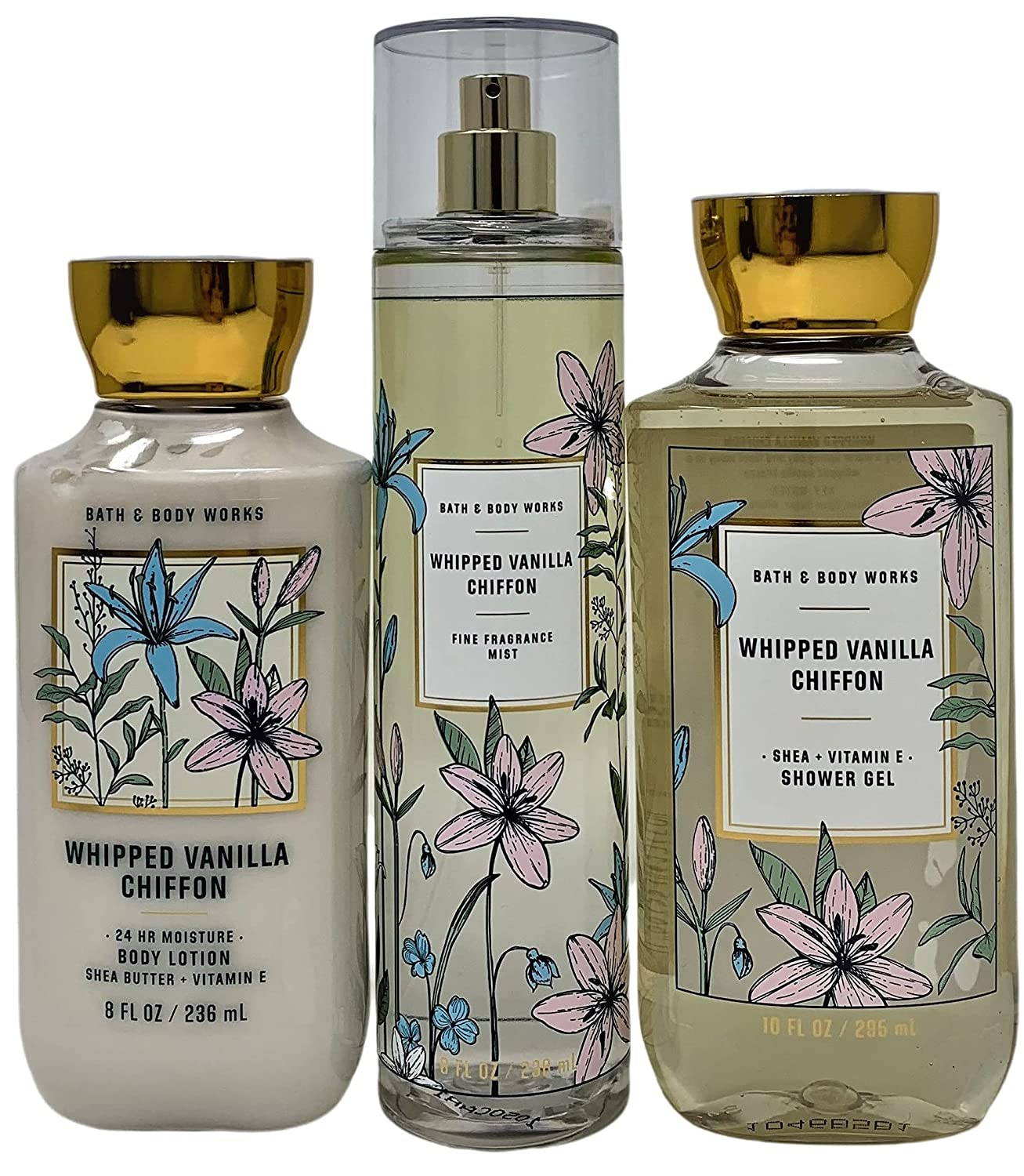 Bath and New mail order Body Works Whipped Vanilla Chiffon Fr Daily Fine - trio Finally resale start