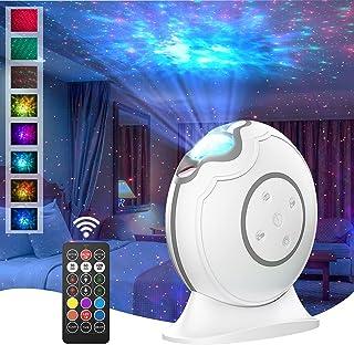 پروژکتور گلکسی LOFTEK ، پروژکتور ستاره ، پروژکتور نور شب با کنترل از راه دور ، تایمر خاموش خودکار ، چراغ پروژکتور LED قابل شارژ برای کودکان بزرگسال ، دکوراسیون اتاق خواب تعطیلات کریسمس ، سفید