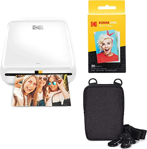 wholesale KODAK Step Wireless Mobile Photo online sale Mini Printer (White) Go sale Bundle online