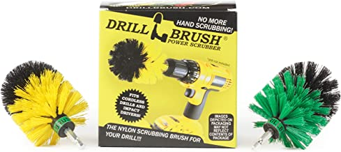 Drill Brush - Cleaning Supplies - Indoor Household MINI Spin Brush Cleaning Kit - Bathroom Accessories - Scrub - Shower Cu...
