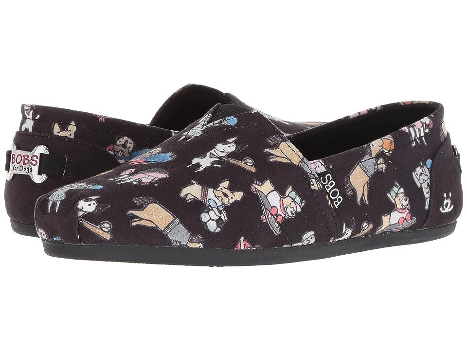 BOBS from SKECHERS BOBS Plush - Go Fetch (Black) Women's Slip on  Shoes
