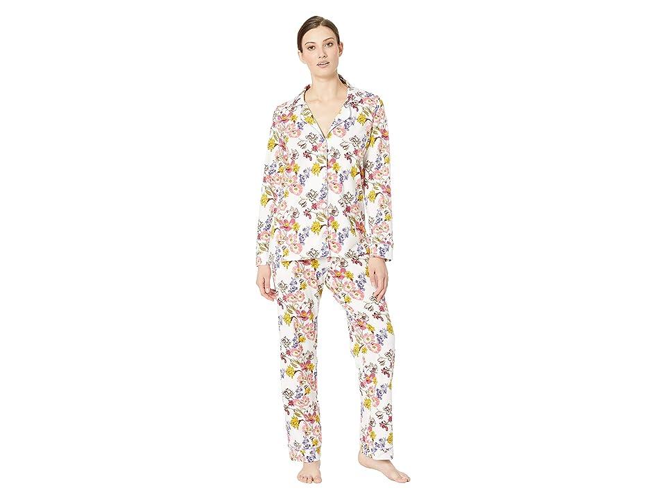 BedHead Pajamas Long Sleeve Classic Notch Collar Pajama Set (Wild Flowers) Women