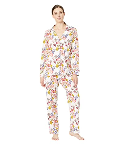 BedHead Pajamas Long Sleeve Classic Notch Collar Pajama Set (Wild Flowers) Women