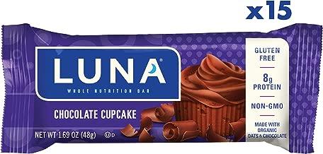 LUNA BAR - Gluten Free Bars - Chocolate Cupcake - (1.69 Ounce Snack Bars, 15 Count)