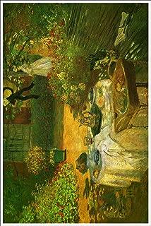 American Gift Services - Artist Claude Monet Fine Art Poster Print of Painting Le Dejeuner, Lunch - 18x24