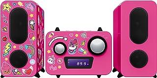 BigBen Interactive MCD11RSUNICORNSTICK Micro Chain CD Player - Pink
