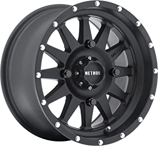Method Race Wheels The Standard Matte Black Wheel with Stainless Steel Accent Bolts (14x7