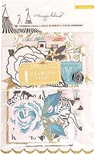 American Crafts Maggie Holmes Carousel 50 Piece Gold Glitter Ephemera