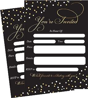 50 Fill In Invitations, Black Wedding Invitations, Bridal Shower Invitations, Rehearsal Dinner, Dinner Invite, Baby Shower Invites, Bachelorette Party Invites, Engagement, Sweet 16, Graduation