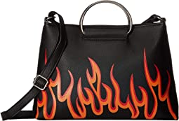 Flames Ring Handle Crossbody