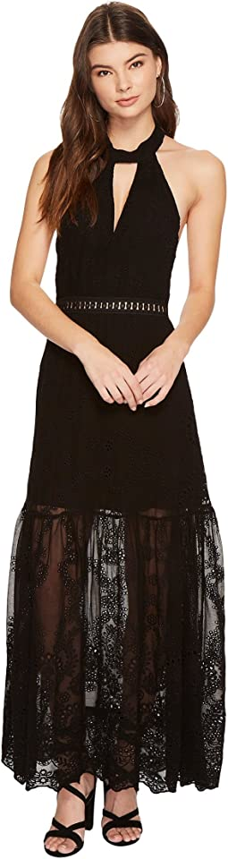 Eyelet Queensland Choker Maxi Dress
