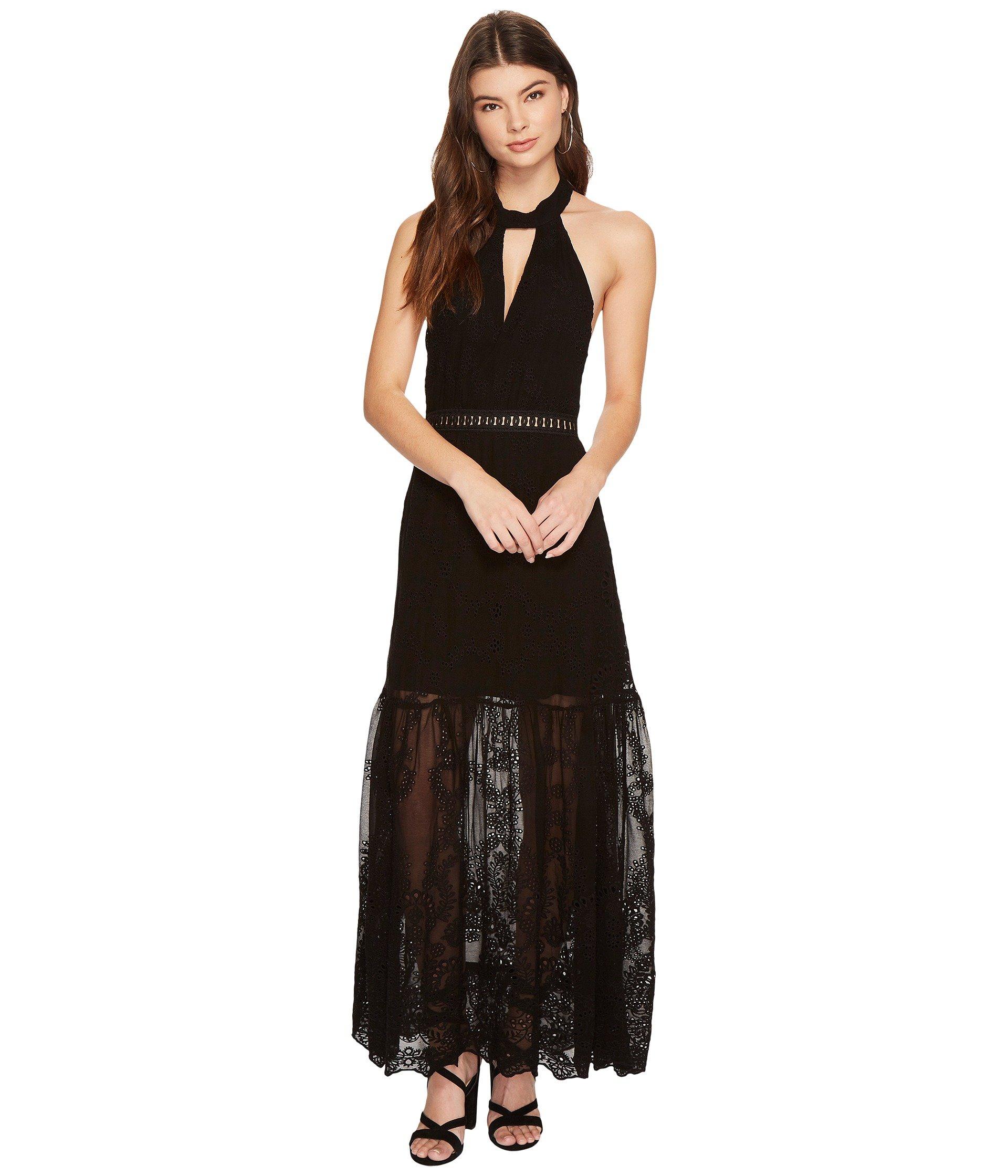JEN'S PIRATE BOOTY Eyelet Queensland Choker Maxi Dress, Black Eyelet