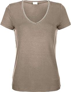 Tunika Bluse Oversize Shirt Blumen Vintage taupe 42 44 46 48 Damen Tank Top