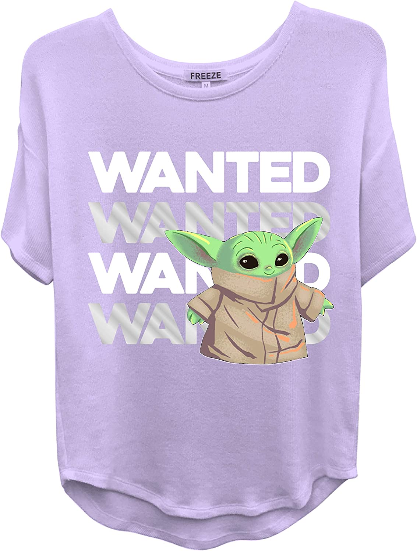 STAR WARS Ladies Yoda T-Shirt Ladies Baby Yoda Curved Hem Hi Lo Shirt