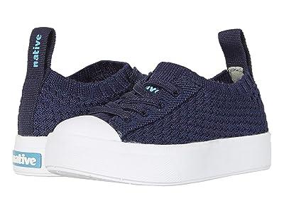 Native Kids Shoes Jefferson 2.0 Liteknit Low (Toddler/Little Kid) (Regatta Melange/Shell White) Boys Shoes