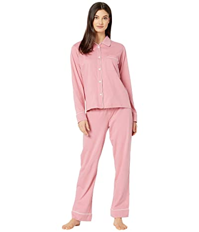 Michael Stars Sloane Pin Dot Classic PJ Set w/ Piping (Rosebud) Women