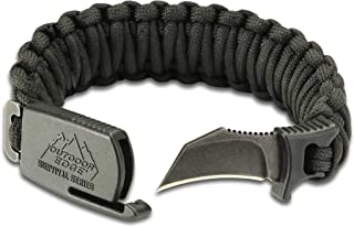 Outdoor Edge ParaClaw Paracord Survival Bracelet with 1.5 Inch Knife Blade