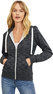Women's Basic Ultra Soft Fleece Solid Full-Zip Hoodie Jacket