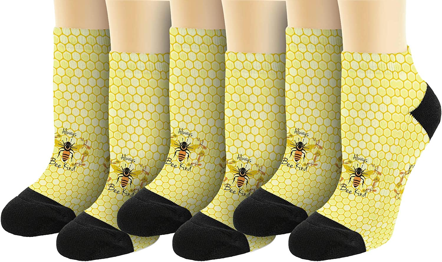 Inspirational Quote Always Bee Kind Novelty Ankle Socks