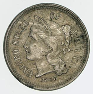 1865-1876 Nickel Three Cent Piece G/VG