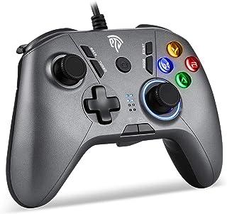 【2021最新版】EasySMX PCゲームパッド パソコンゲーミングコントローラー Windows/ PS3/ Android/TV Boxに対応可能(シルバー)