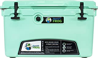 Frosted Frog Mint 45 Quart Ice Chest Heavy Duty High Performance Roto-Molded Commercial Grade Insulated Cooler