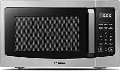 Toshiba ML-EM34P(SS) Smart Countertop Microwave Oven Compatible with Alexa, Humidity Sensor and Sound On/Off Function, 1100W, 1.3 Cu.ft, Stainless Steel (Renewed)