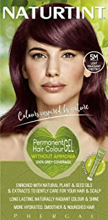 Naturtint Permanent Hair Color, 5M Light Mahogany Chestnut, Plant Enriched, Ammonia Free, Long Lasting Gray Coverage and R...