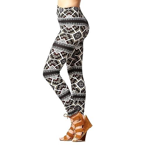 aztec tribal leggings Chevron Print Soft Knitten Leggings Tight Pants Size M