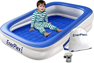 EnerPlex Kids Inflatable Toddler Travel Bed with High...