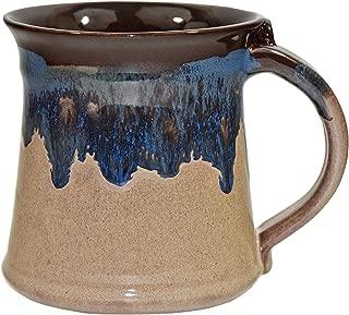 Clay in Motion 16 oz Mug - Medium Handmade Pottery Ceramic Coffee Cup - Chocolate Mudslide