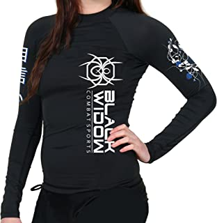 BLACK WIDOW COMBAT SPORTS Women's Alien Flowers Rash Guard