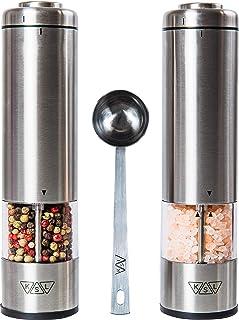 KSL Electric Salt and Pepper Grinder Set (Batteries included) – Automatic..