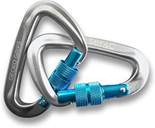 Serac #1 Ultra Strength Locking Carabiners x2 (one Pair), Ultra Durable & Strong Perfect Classic Single or Sequoia Double hammocks - Made from Ultralight Aircraft Grade Aluminum