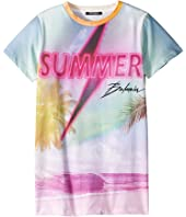 Balmain Kids - Short Sleeve Summer Balmain Tee (Big Kids)