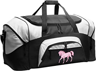 LARGE Horse Theme Duffel Bag Horse Lover Suitcase or Gym Bag For Her Girls