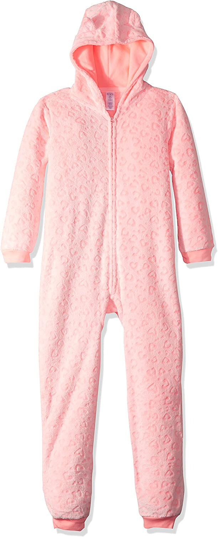 The Children's Place Big Girls' Cozy Neon Leopard Fashion Sleepwear