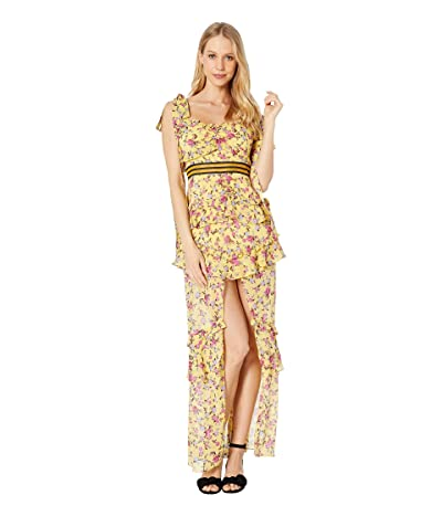 For Love and Lemons Maison Maxi Dress (Yellow) Women