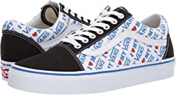 (I Heart Vans) Black/True White