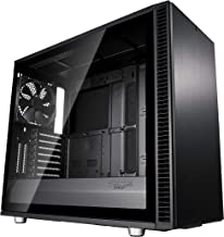 Fractal Design Define S2 - Mid Tower Computer Case - High Airflow and Silent - PSU Shroud - Modular Interior - Water-Cooling Ready - USB Type C - Light Tint Tempered Glass Side Panel - Blackout Tg