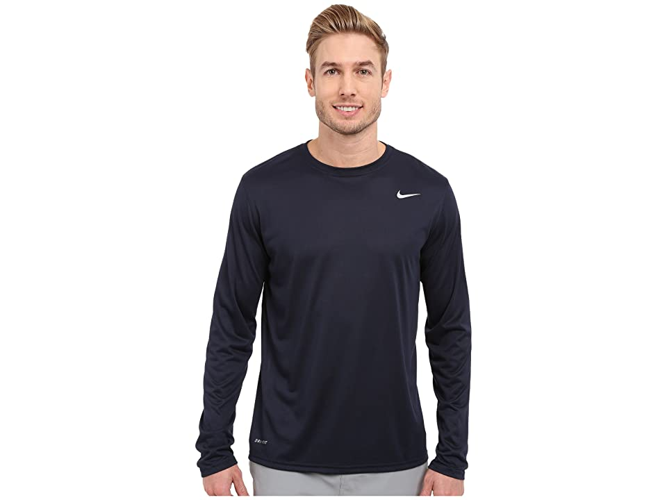 Nike Legend 2.0 Long Sleeve Tee (Obsidian/Metallic Silver) Men