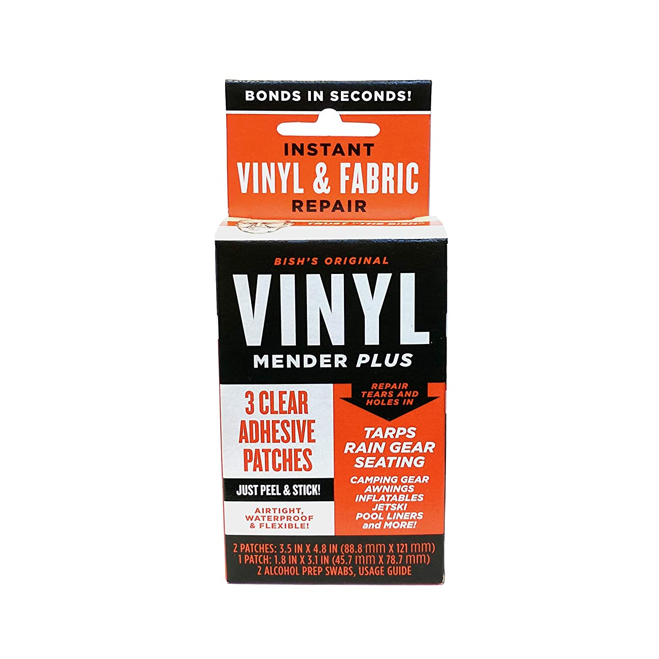 Tear Mender Vinyl Mender Clear Adhesive Patches, 40 Sq. Inches, BRT-1 (Packaging may vary)