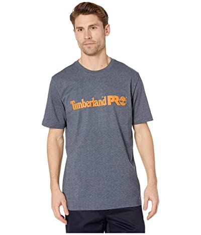 Timberland PRO Base Plate Short Sleeve T-Shirt with Logo (Navy Heather) Men
